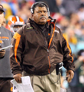 Romeo Crennel has resurrected Cleveland's D from one of the league's worst two years ago to 13th overall in 2010. (Getty Images)