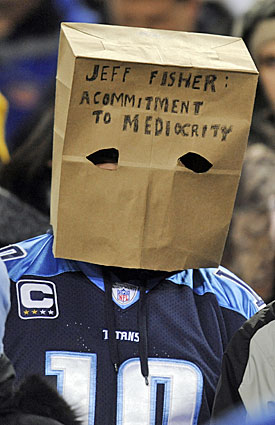 Titans fans aren't shy about expressing their dissatisfaction with Jeff Fisher. (AP)