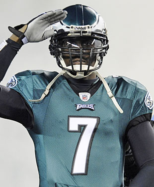 It's time to salute Michael Vick, who should run away with the Comeback Player of the Year award. (AP)