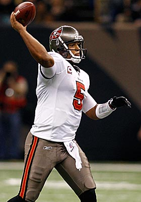 In his second season in the NFL, Josh Freeman tosses 25 TD passes against six INTs in the Bucs' 10-win season. (Getty Images)
