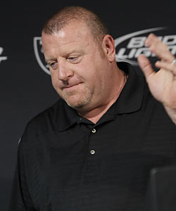 Tom Cable might have been fired in Oakland but his future looks bright as he's shown his ability to perform as a head coach. (AP)
