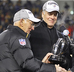 Steelers boss Dan Rooney and son Art II lead the way in setting the culture in Pittsburgh. (AP)