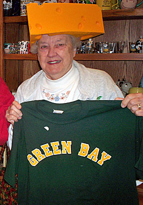 Gert Behnke, aka Aunt Gert, has been attending Packers games since 1948. (Cheesehead TV)