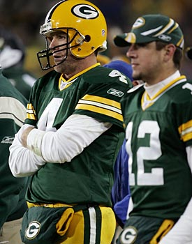 Aaron Rodgers hasn't forgotten how Brett Favre treated him in Green Bay. (Getty Images)