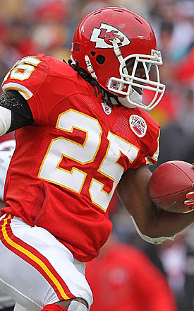 Jamaal Charles helped the Chiefs become a surprise playoff participant in 2010 -- but get ready for a slip in 2011. (Getty Images)