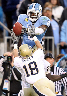 Greg Little missed North Carolina's bowl game and will need a strong combine to boost his stock. (Getty Images)