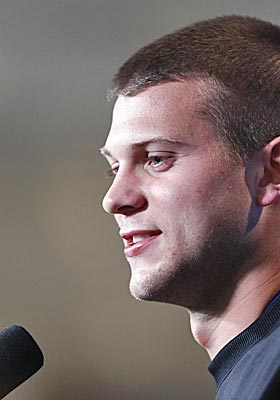 Jake Locker knows he would have been a first-round draft choice and a possible top-15 pick a year ago. (Getty Images)