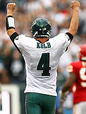Kevin Kolb has only seven starts in four NFL seasons, and his stats aren't particularly impressive. (Getty Images)