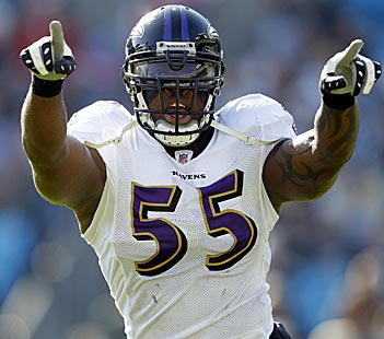 Pass-rush star Terrell Suggs is a game-changer. (US Presswire)