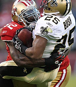 Patrick Willis misses few takedown chances. (Getty Images)
