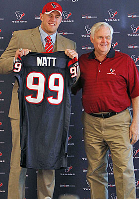 First-round pick J.J. Watt leads a draft haul that Wade Phillips calls a group of 'real good athletes.' (US Presswire)
