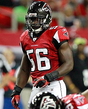 Falcons linebacker Sean Weatherspoon showed skills as a rookie that could get him to a Pro Bowl. (Getty Images)