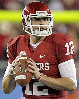 Not all underclassmen come out of nowhere -- Landry Jones has been starting at Oklahoma since he was a freshman. (Getty Images)