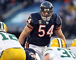 Two or three more Pro Bowl years and Brian Urlacher is in the conversation -- maybe. (Getty Images)