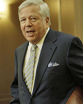 New England's Robert Kraft, a moderate trusted by the players, will remain a key to talks. (AP)