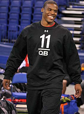 Cam Newton brings a high-wattage smile to Carolina, but can he deliver any wins? (US Presswire)