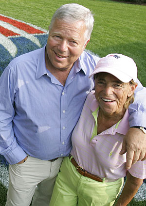 Robert and Myra Kraft were married 48 years, with their anniversary last month. (AP)