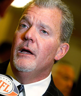 The Colts' Jim Irsay said owners offered to show their financials, but the NFLPA said it wasn't enough. (Getty Images)