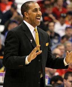 Lorenzo Romar has led the Huskies to six NCAA tournament appearances in his nine years at the helm. (Getty Images)