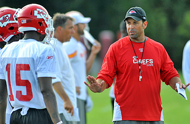 Todd Haley doesn't expect to decide on who will call the plays until the start of the regular season. (US Presswire)