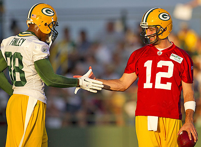 As good as the Packers were, the Finley-Rodgers reconnection further enhances bright prospects. (AP)