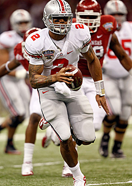 For teams in the supplemental draft, Pryor's most intriguing talent is his scrambling ability. (Getty Images)