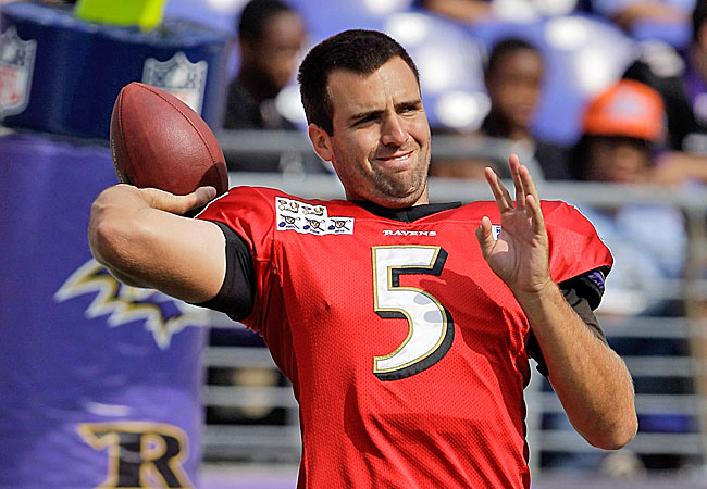 Flacco's got the arm. But will have the protection, or a decent receiving corps? (Getty Images)