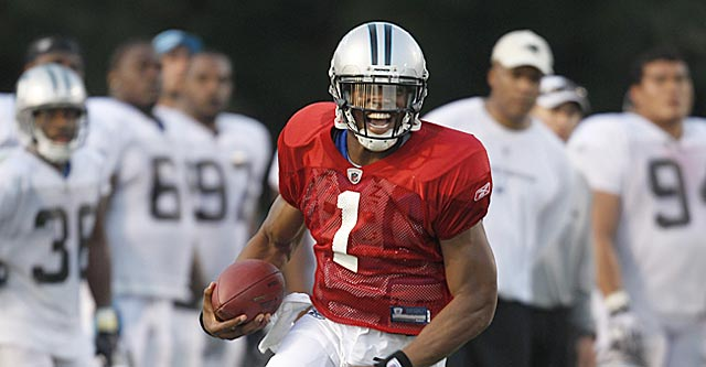 It hasn't taken long for the ever-ebullient Cam Newton to impress his teammates and coaches. (AP)