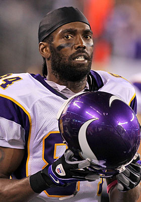 Randy Moss' terrific numbers can't overshadow the 'what if he actually gave a crap' argument. (Getty Images)