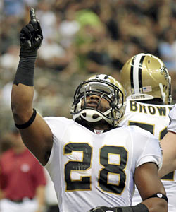 The Saints get a hard-nosed runner who packs a punch Bush never provided. (AP)