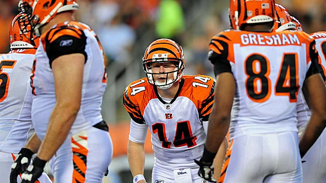 Bengals yardage differential? Tenth in the NFL? Seriously? (US Presswire)