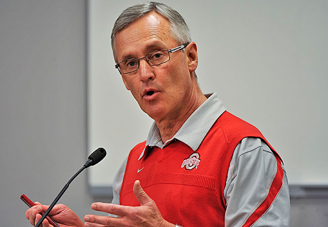 Should Jim Tressel be forced to pay a penalty for his Ohio State misdeeds? Popular question. (Getty Images)