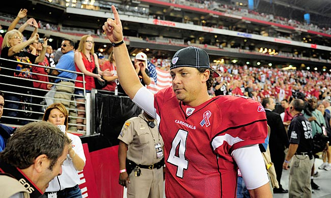 While his counterpart dazzles everyone else, Kevin Kolb gives Arizona fans a reason to believe. (US Presswire)