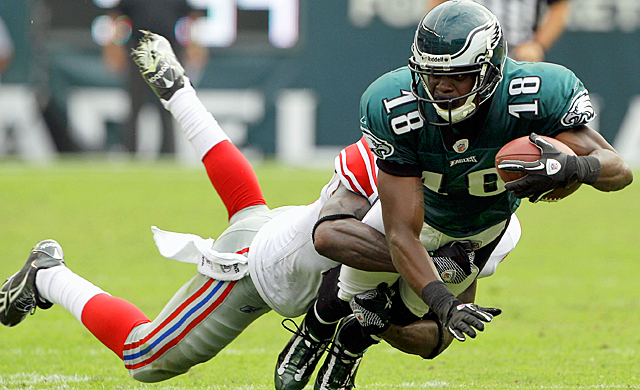 The Eagles' passing game takes a big hit with Jeremy Maclin being sidelined with an injury. (Getty Images)