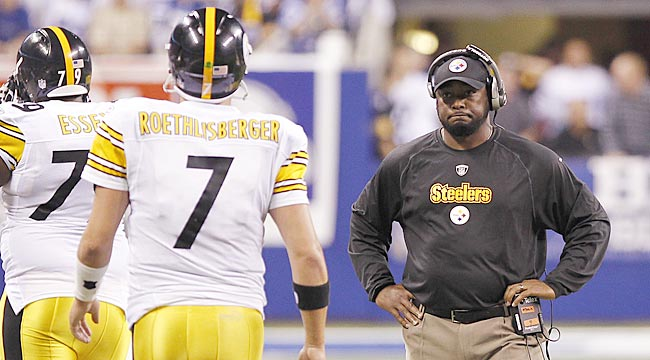 Mike Tomlin will always have Big Ben's back, but continuing to see Bad Ben must wear him out. (Getty Images)