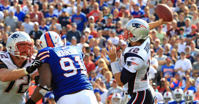The Bills beat Tom Brady on Sunday with the help of four interceptions. (US Presswire)