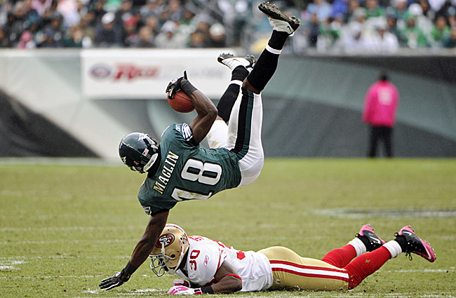 The start to the 2011 season has gotten off to a rough start for Jeremy Maclin and the 1-3 Eagles. (US Presswire)