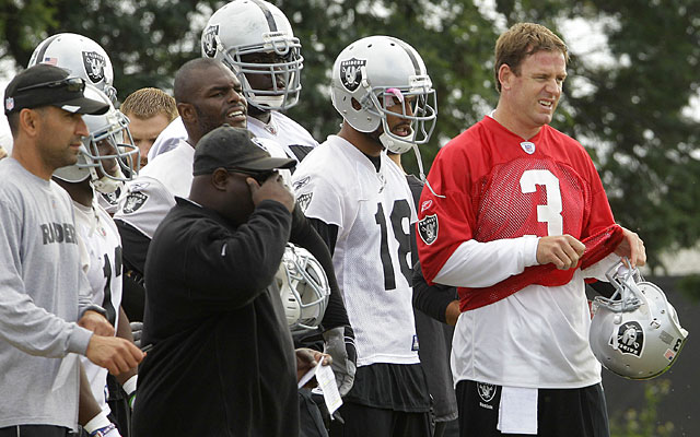 Carson Palmer will be working with plenty of skill-position talent in Oakland. (AP)