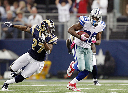 Rookie DeMarco Murray breaks free for a 91-yard TD run en route to a franchise record 253 yards on the ground. (Getty Images)