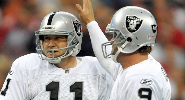 The Raiders don't fear long field goals with Sebastian Janikowski. (US Presswire)