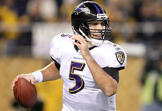 Take away the drops, and Flacco's stats are 7 of 10 for 92 yards on the final drive. (US Presswire)