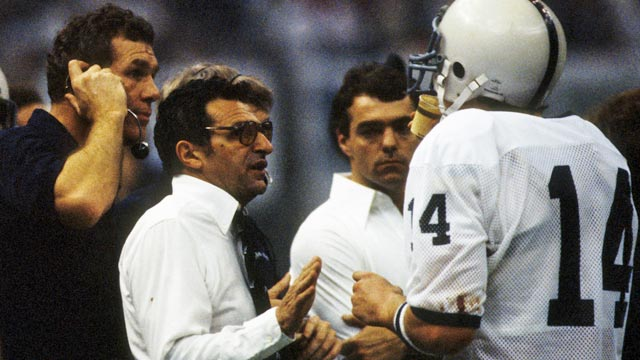 'Saddened' Todd Blackledge (14) won a national title with Paterno in 1982. (US Presswire)