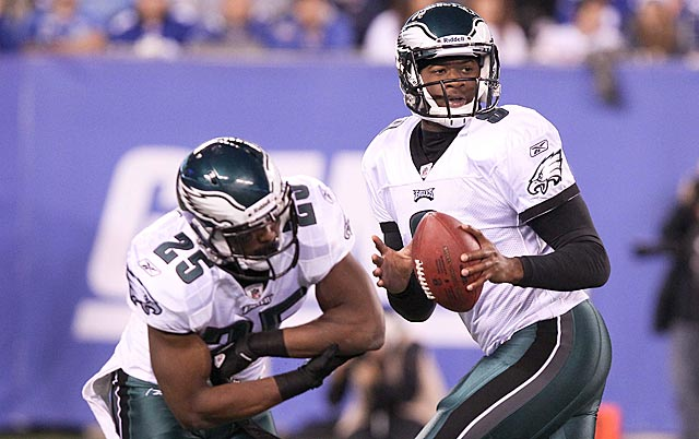LeSean McCoy can carry a load, but the Eagles win with Vince Young's lightly regarded arm. (US Presswire)