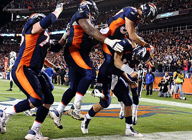Teammates may love him now that Tebow has the Broncos at 5-5, but is that MVP-worthy? (Getty Images)