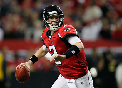 "Matt ""Matty Ice"" Ryan is the difference, going 27 of 34 for 262 yards and three scores. (Getty Images)"