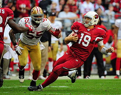 John Skelton steps in for the injured Kevin Kolb and throws for 282 yards and three touchdowns. (US Presswire)