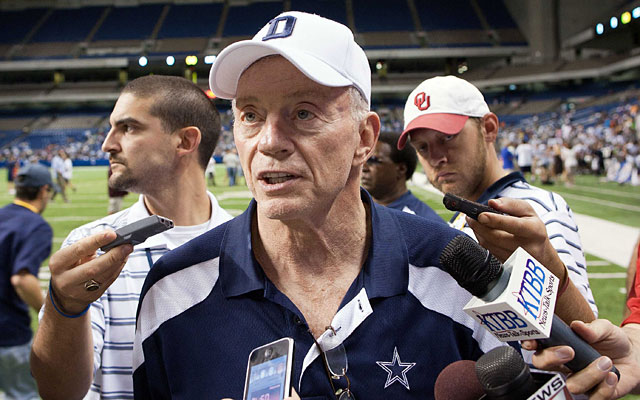 Sometimes it appears that Jerry Jones is the Cowboys' real coach as well as being GM and owner. (US Presswire)