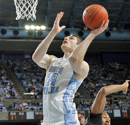 Tyler Zeller is unstoppable for the Tar Heels, netting 31 points and collecting 10 rebounds against Appalachian State.  (AP)