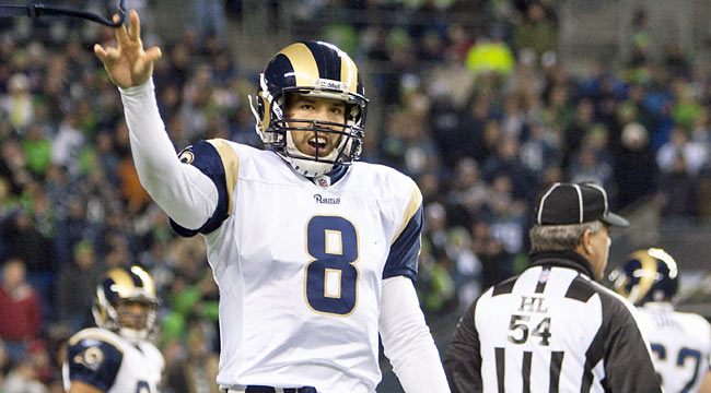 The Rams have invested $30M in Bradford, who has 26 games under his belt. (Getty Images)