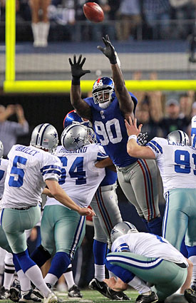 Jason Pierre-Paul had a big hand in the Giants' Week 14 victory over the Cowboys in Texas. (Getty Images)
